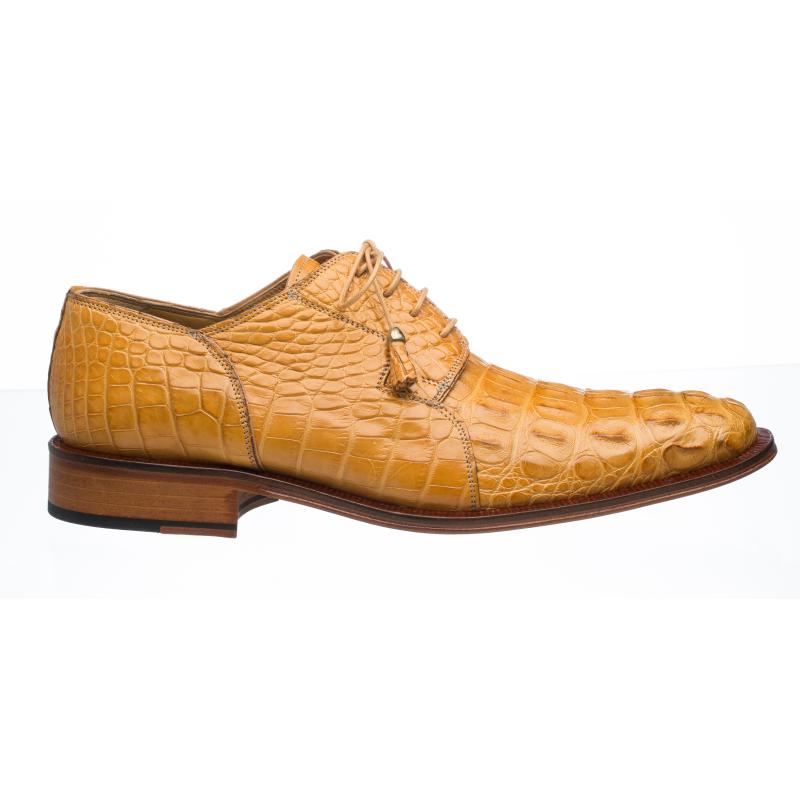 Ferrini 226 Hornback Alligator Derby Shoes Camel Image