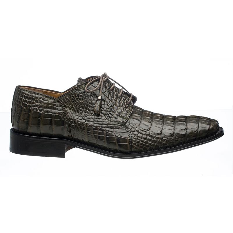 Ferrini 226 Hornback Alligator Derby Shoes Dark Gray Image