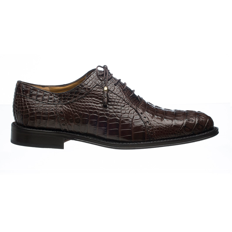 Ferrini 227 Hornback Alligator Oxfords Chocolate Image