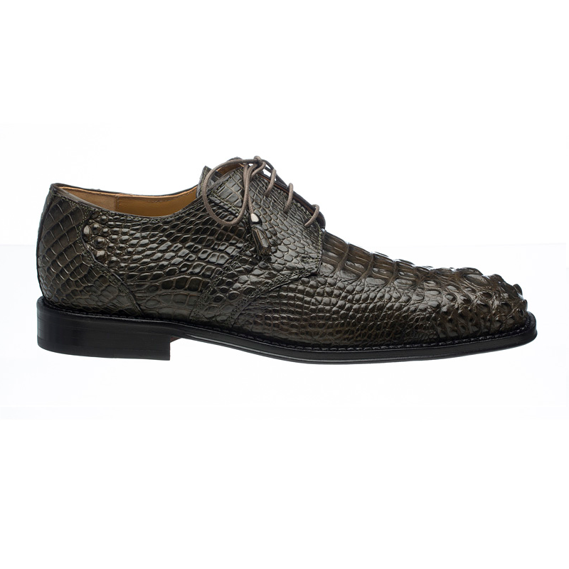 Ferrini 228 Hornback Alligator Square Toe Derby Shoes Dark Gray Image