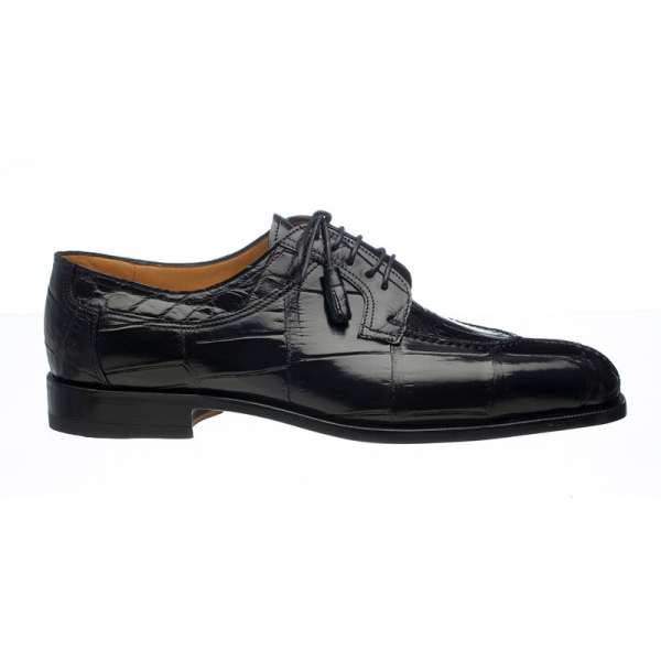 Ferrini 3520 Alligator Split Toe Shoes Black Image