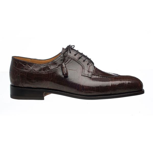 Ferrini 3520 Alligator Split Toe Shoes Chocolate Image
