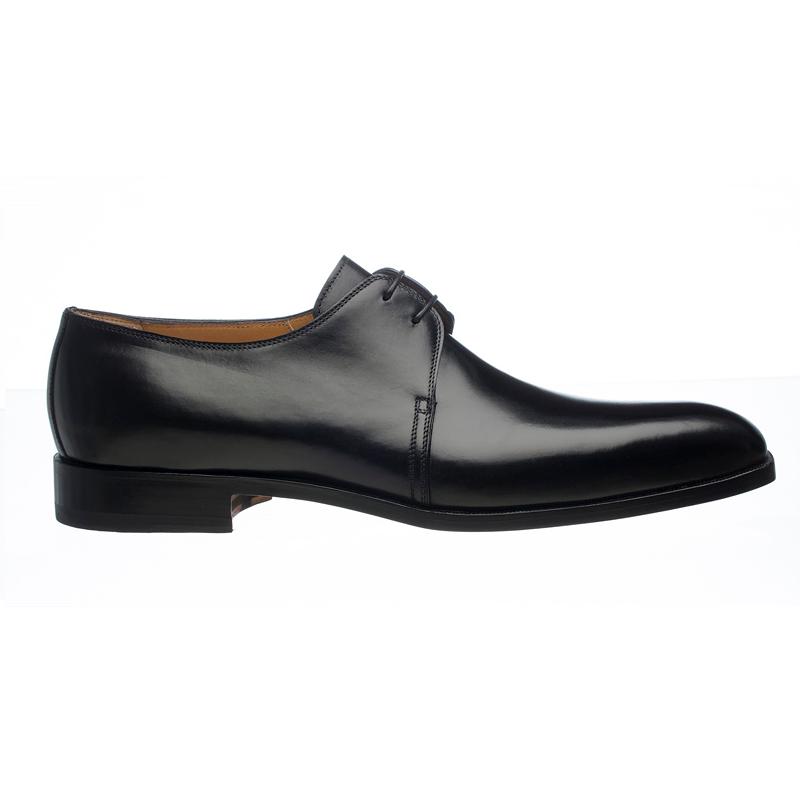 Ferrini 3786 / 160 French Calfskin Plain Toe Derby Shoes Black Image