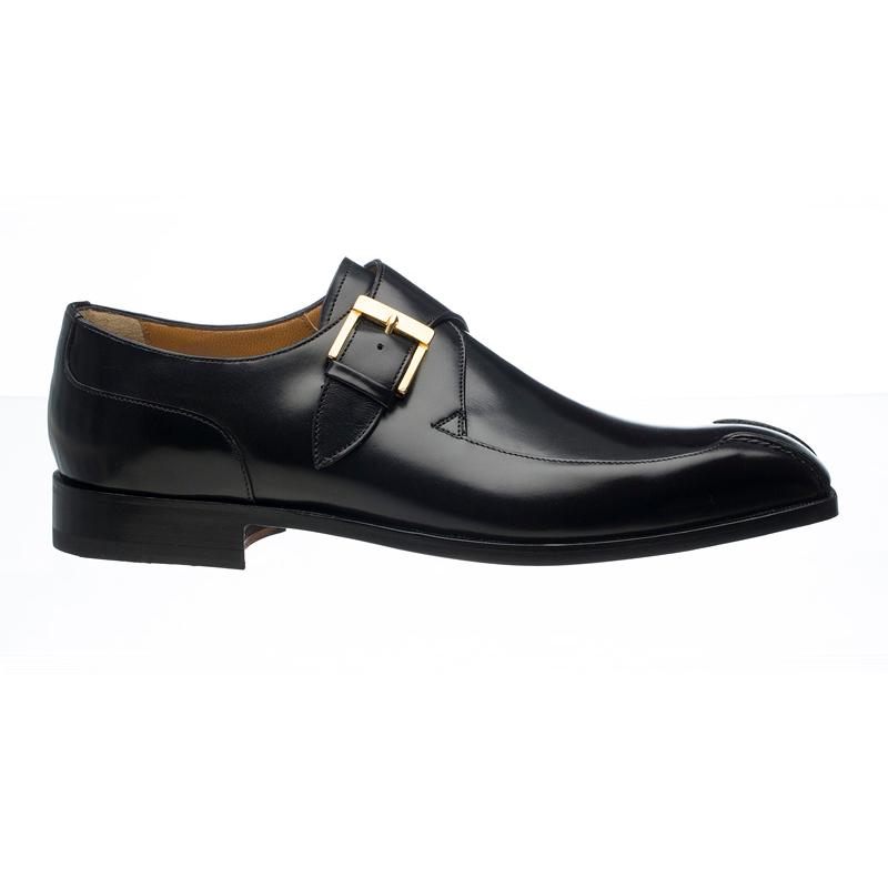 Ferrini 3873 / 169 French Calfskin Monk Strap Shoes Black Image