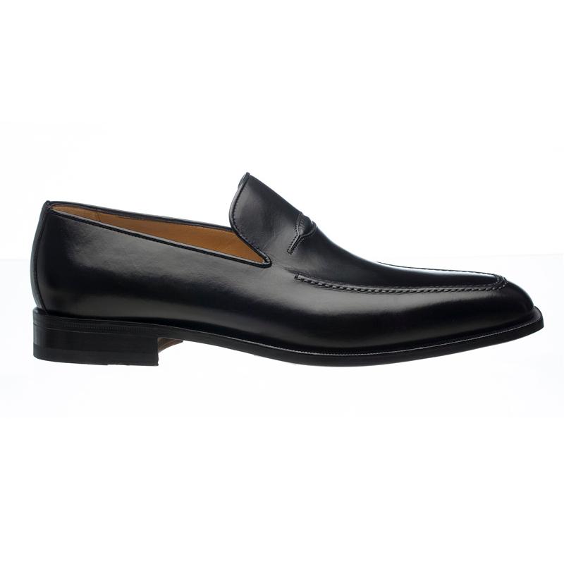 Ferrini 3877 French Calfskin Apron Toe Loafers Black Image