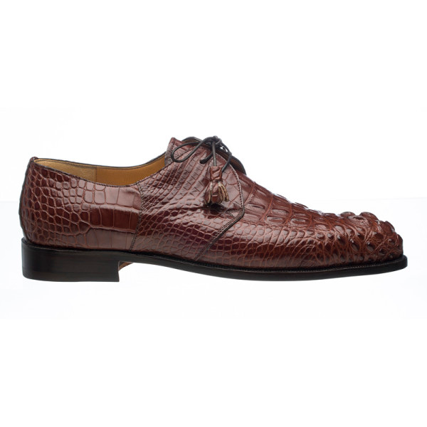 Ferrini 4198 Hornback Alligator Dress Shoes Sport Rust Image