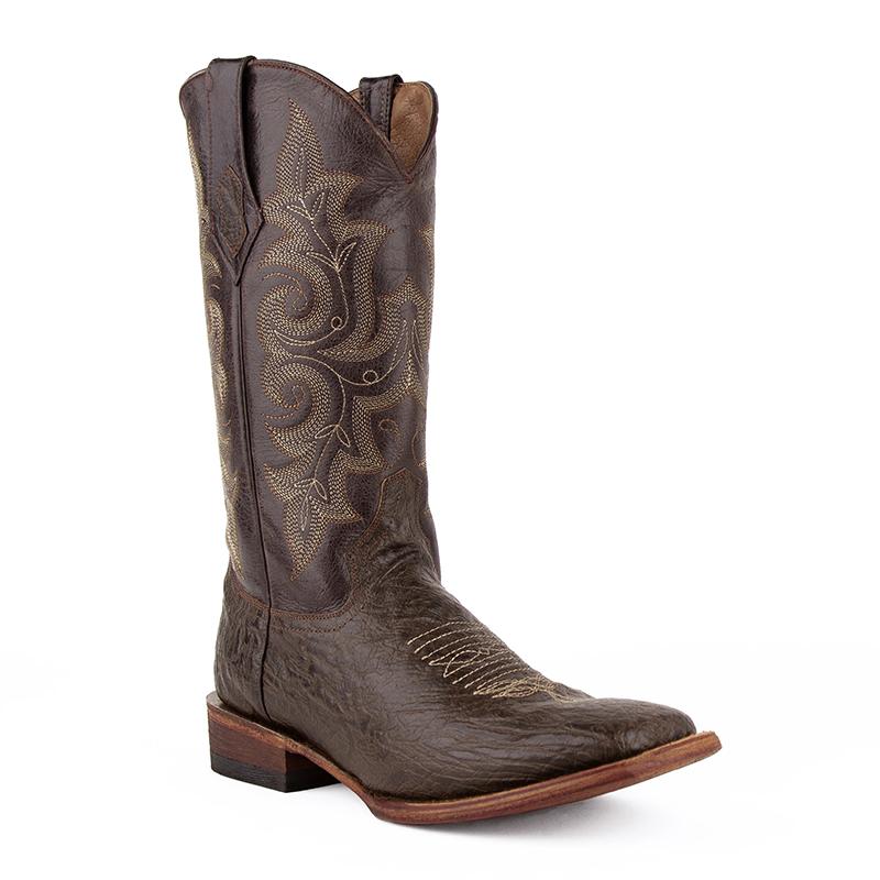 Ferrini Acero 12093-09 Square Toe Boots Chocolate Image