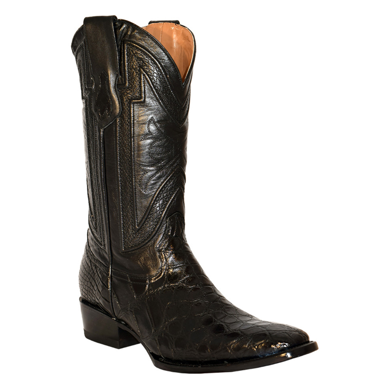 Ferrini Belly Alligator 10741-04 Exotic Boots Black Image