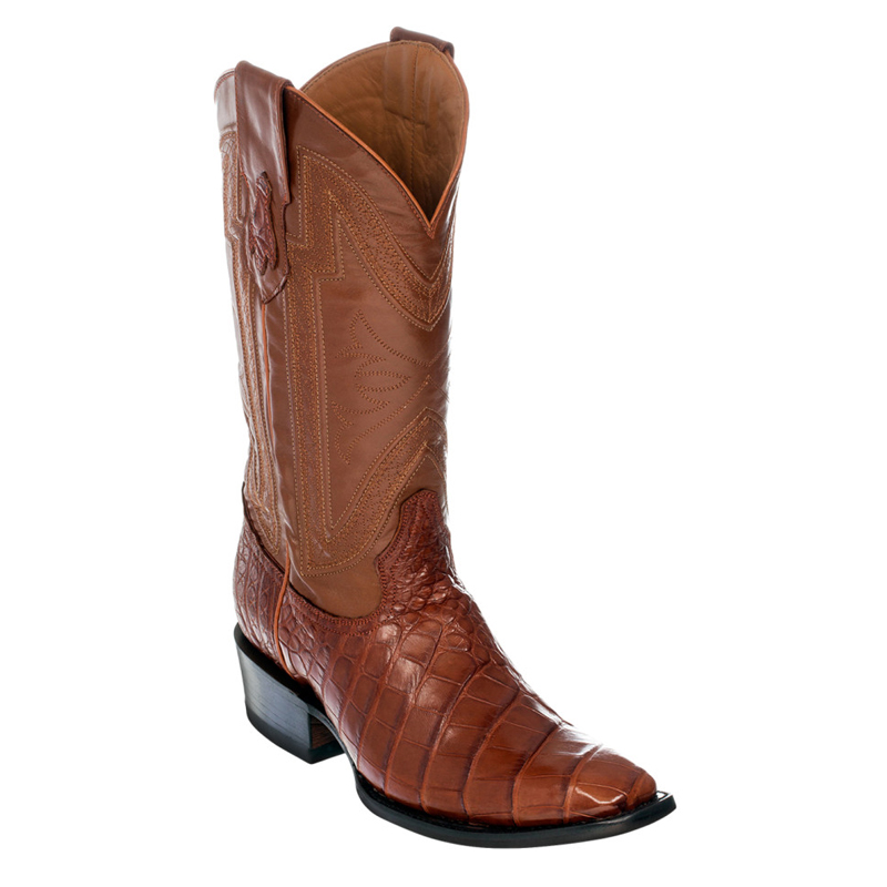 Ferrini Belly Alligator 10771-02 Exotic Boots Cognac Image