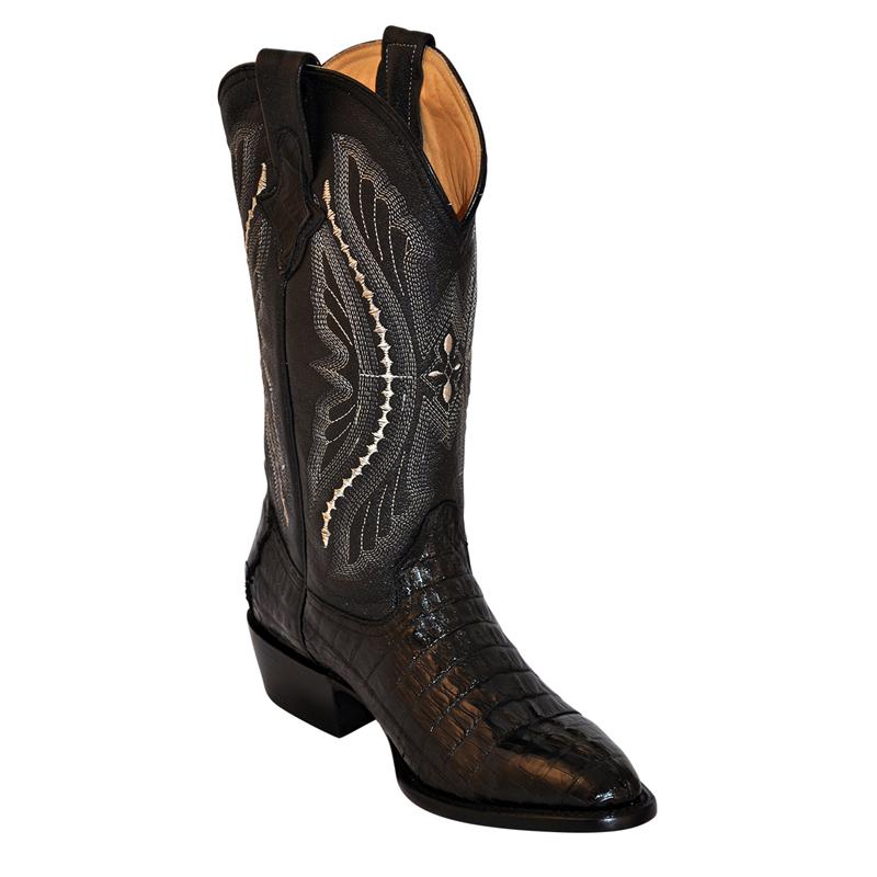 Ferrini Caiman Tail 10311-04 Exotic Boots Black Image