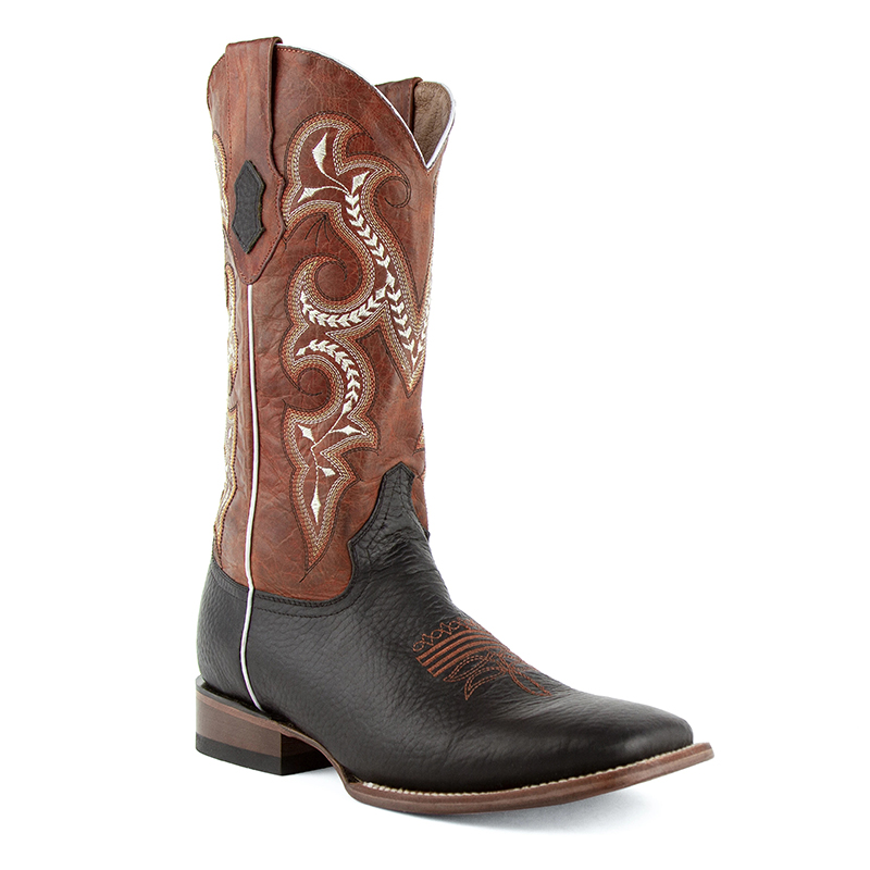 Ferrini Colby 12193-04 Square Toe Boots Black/Rust Image