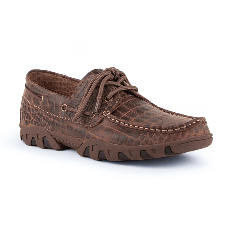 Ferrini Cowhide Print 35322-10 Round Toe Loafer Brown Image