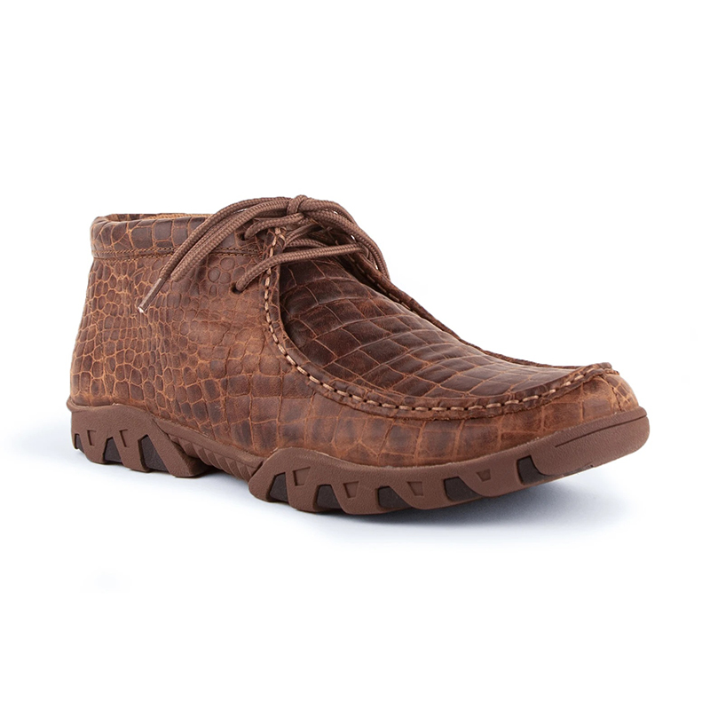 Ferrini Cowhide Print Rogue 33722-10 Round Toe Moccasin Brown Image