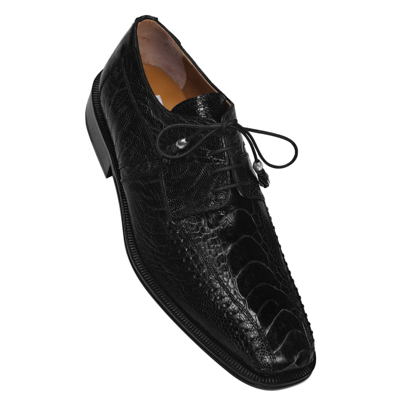 Ferrini F204BL Ostrich Leg Bicycle Toe Shoes Black Image