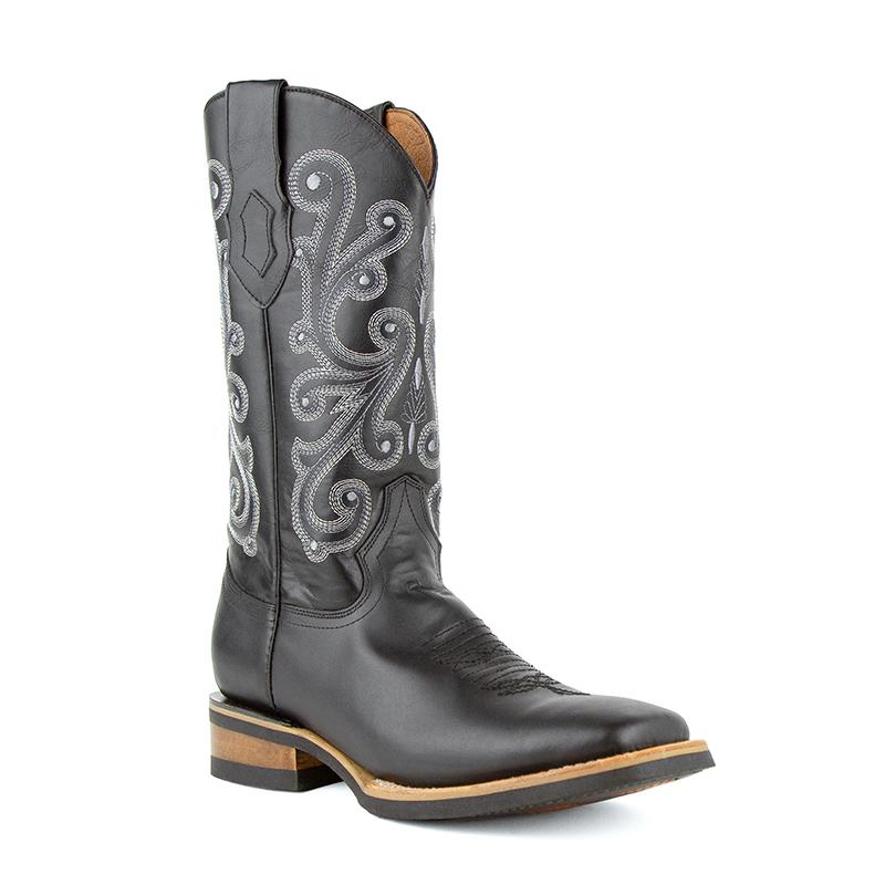 Ferrini French 15393-04 Square Toe Boots Black Image