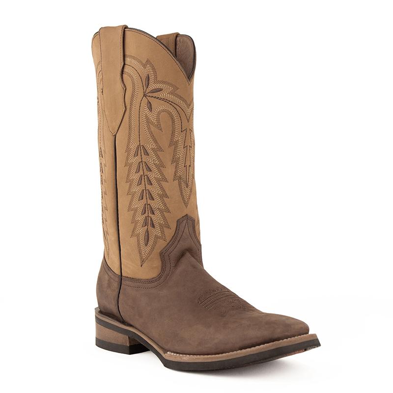 Ferrini Hunter 12693-09 Square Toe Boots Chocolate/Antique Saddle Image