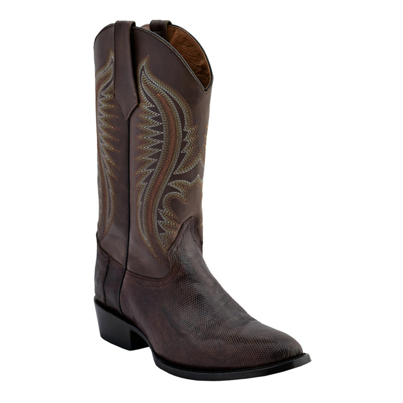 Ferrini Lizard Belly 13611-09 Exotic Boots Chocolate Image