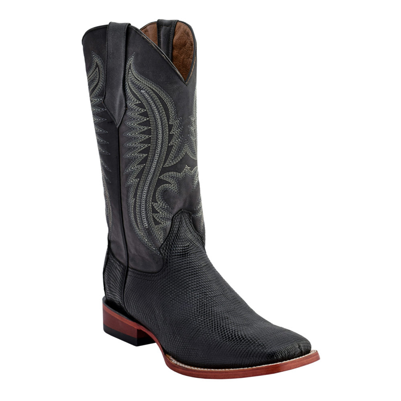 Ferrini Lizard Belly 13693-04 Exotic Boots Black Image