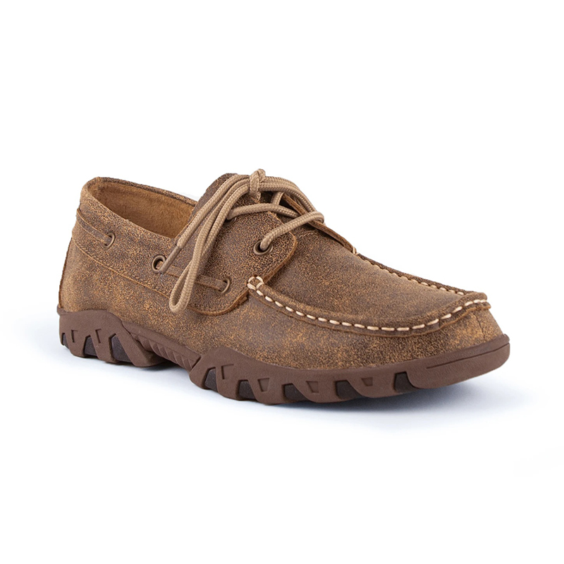Ferrini Loafer 35322-14 Round Toe Shoes Mocha Image