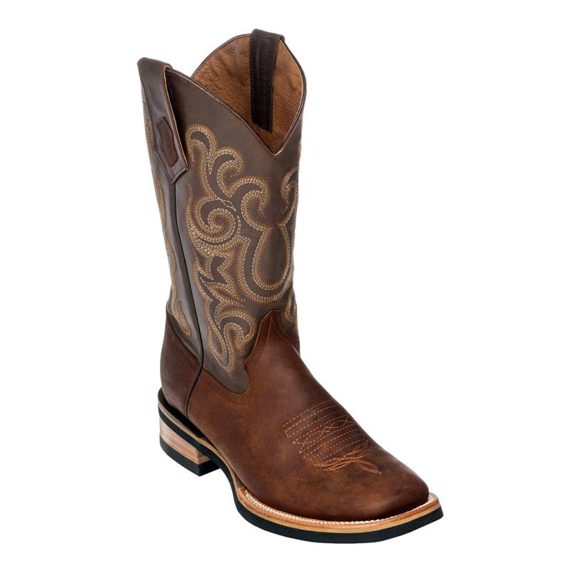 Ferrini Maverick Rubber Sole 15093-10 Cowhide Boots Brown Image