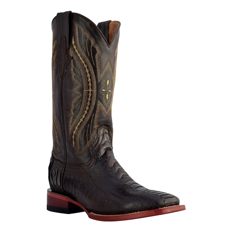 Ferrini Ostrich Leg OSL-09S Exotic Boots Chocolate Image