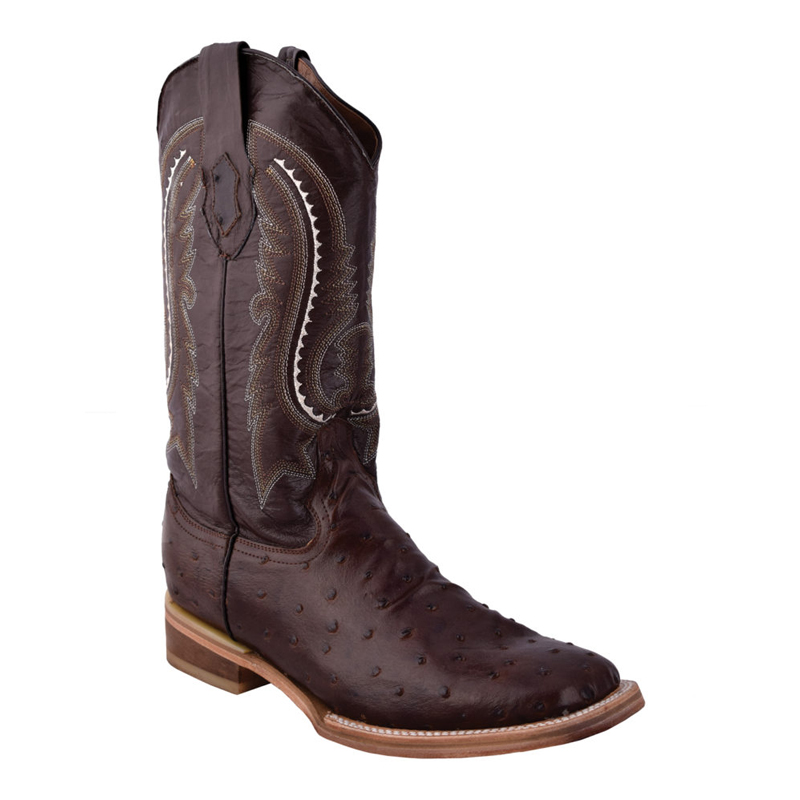 Ferrini Print FQ Ostrich 40193-09 Cowhide Boots Chocolate Image