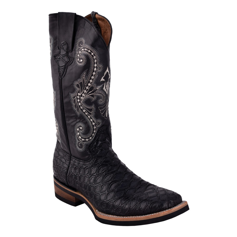 Ferrini Print Anteater 42593-04 Cowhide Boots Black Image