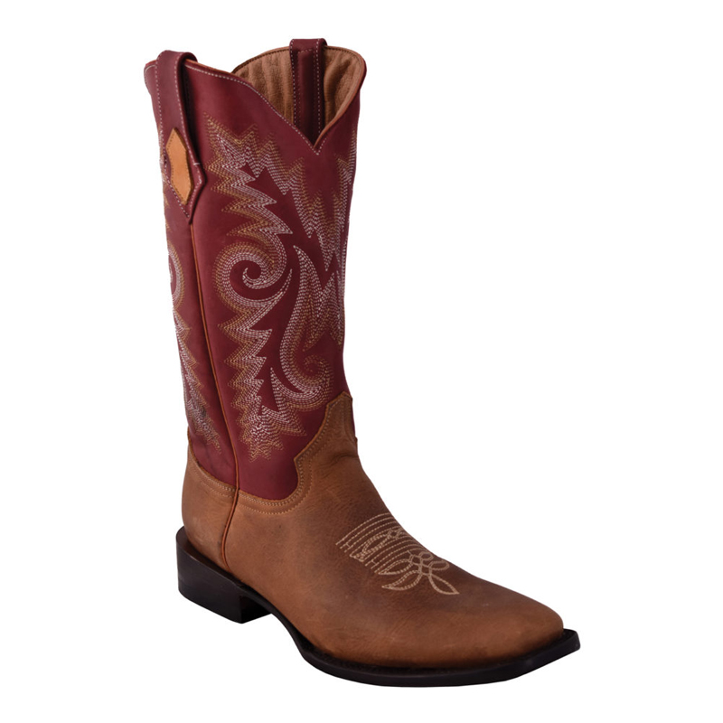 Ferrini Roughrider 12193-39 Cowhide Boots Dist Brown Image