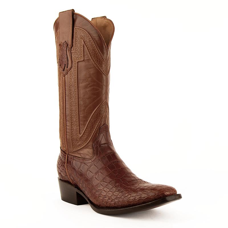 Ferrini Stallion 10771-02 Narrow Square Toe Boots Cognac Image