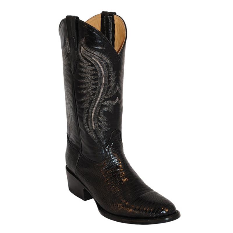 Ferrini Teju Lizard 11111-04 Exotic Boots Black Image