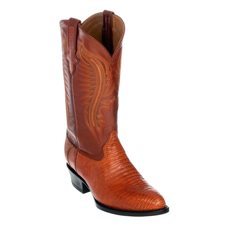 Ferrini Teju Lizard 11111-11 Exotic Boots Peanut Image