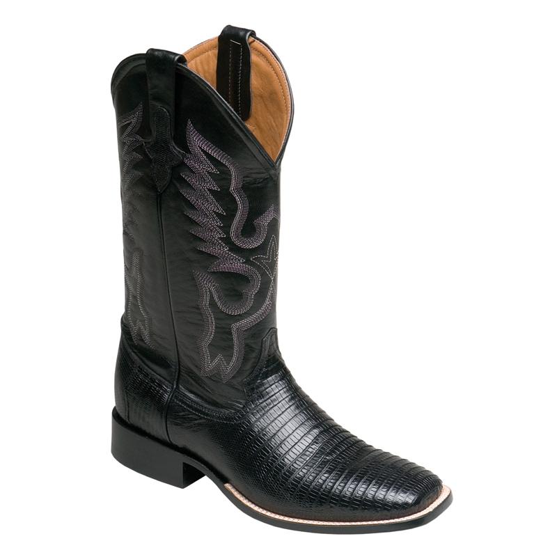 Ferrini Teju Lizard 11193-04 Exotic Boots Black Image