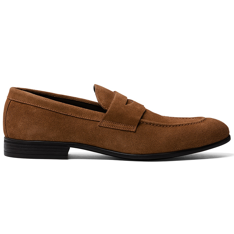 G. Brown Cannon Suede Penny Loafer Cognac Image