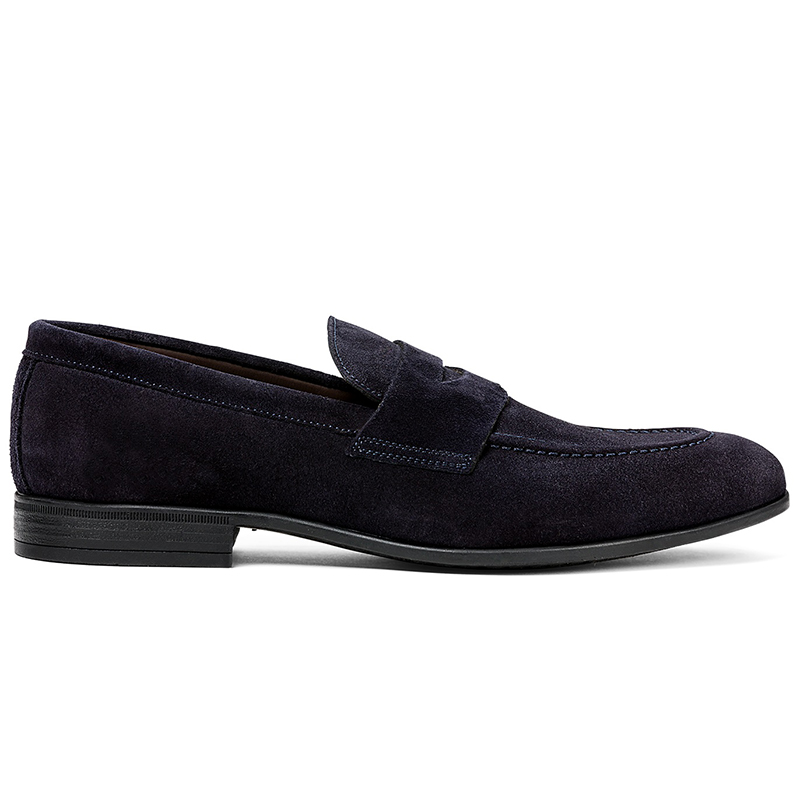 G. Brown Cannon Suede Penny Loafer Navy Image