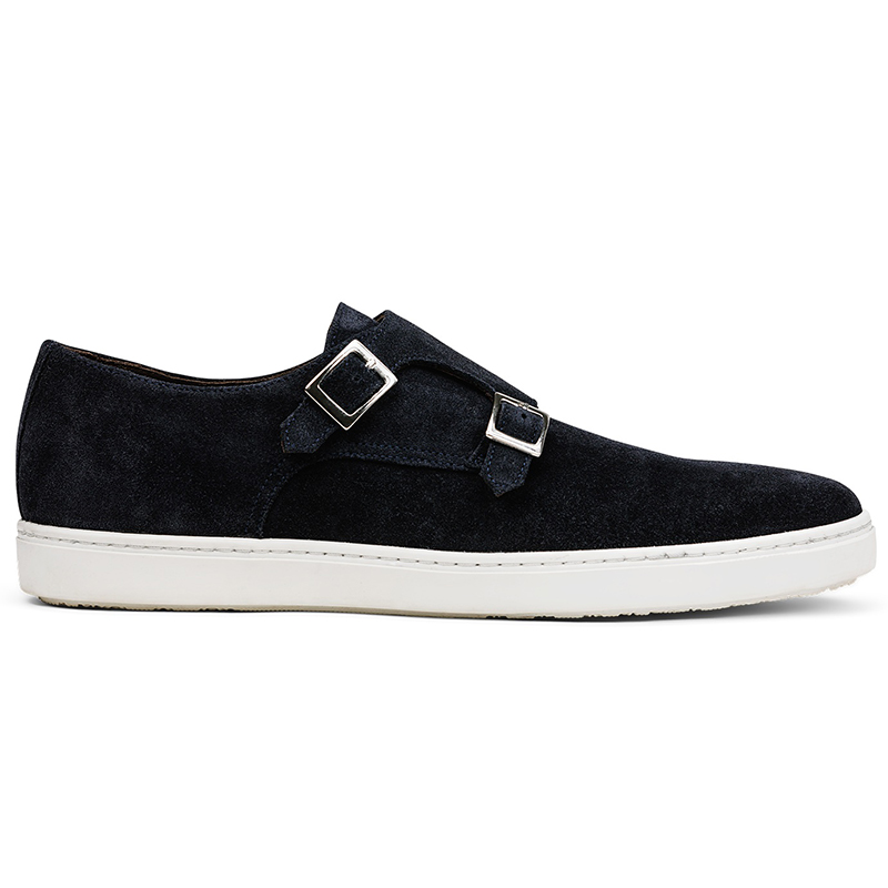 G. Brown Jaxon Suede Double Monk Strap Sneaker Navy Image