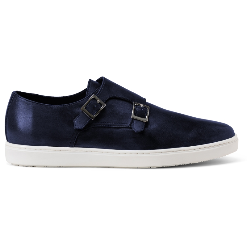 G. Brown Jaxon Double Monk Strap Sneaker Dark Navy Image