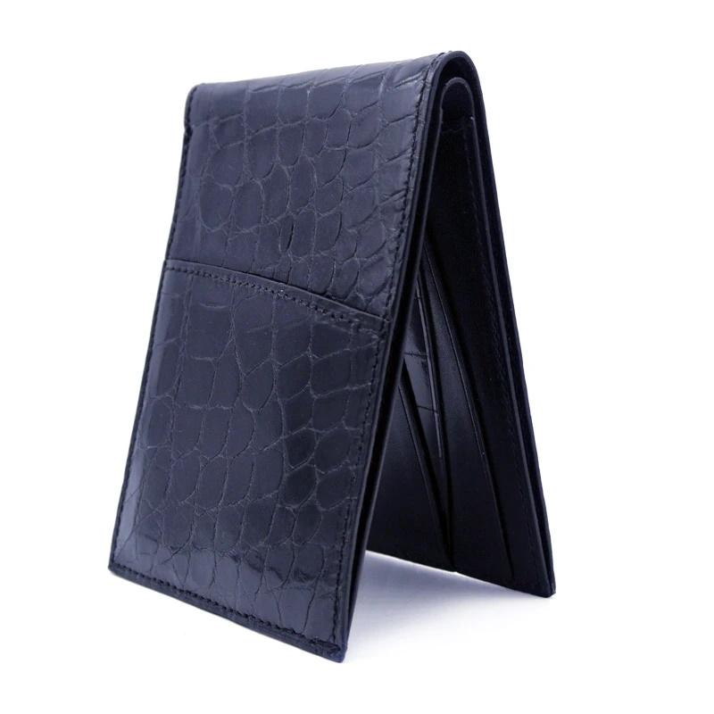 Gracen Nile Crocodile Bi-Fold Wallet Black Image