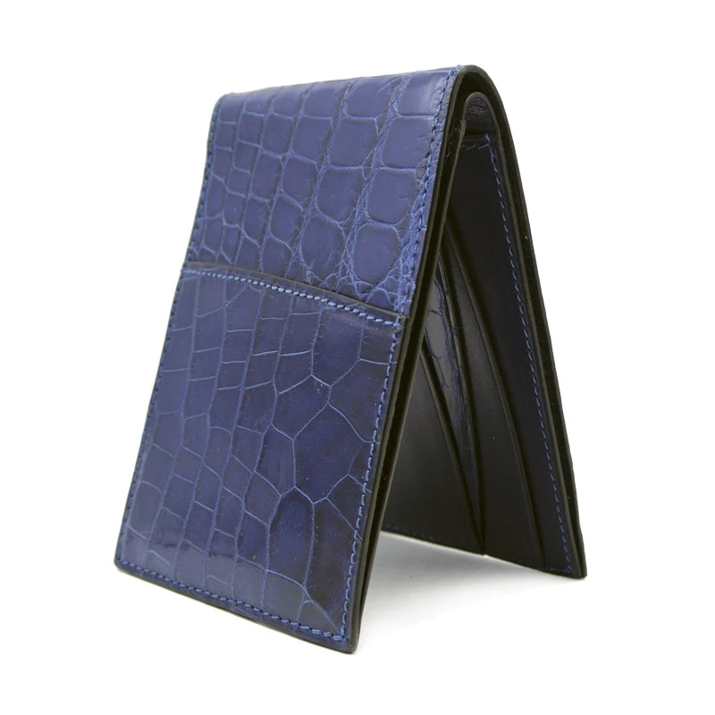 Gracen Nile Crocodile Bi-Fold Wallet Blue Image