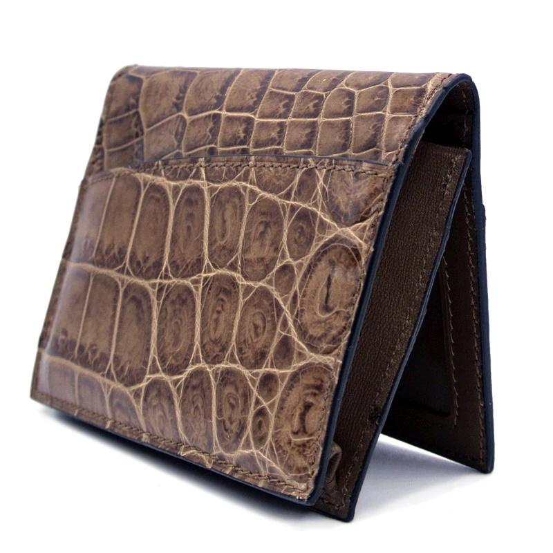Gracen Nile Crocodile Card Case Cappucino Image