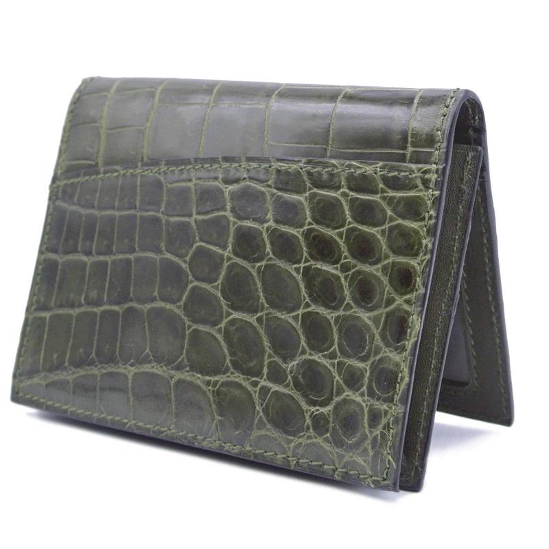 Gracen Nile Crocodile Card Case Green Image