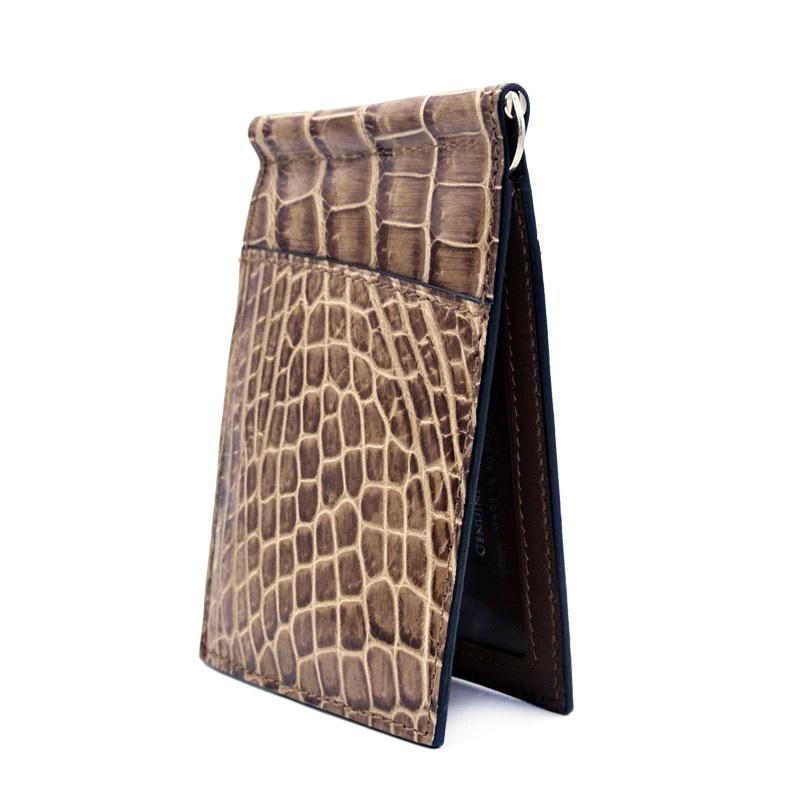Gracen Nile Crocodile Money Clip Cappucino Image