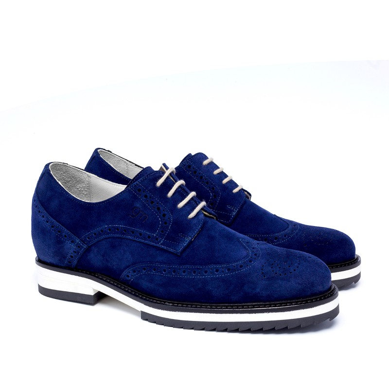 Guido Maggi Iceland Suede Calfskin Shoes Navy Blue Image