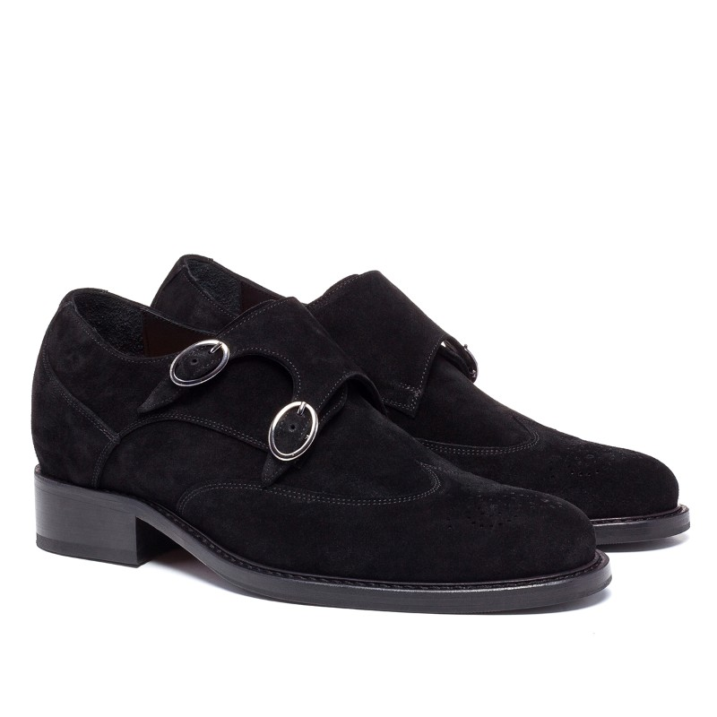 Guido Maggi Post Street Suede Calfskin Shoes Dark Brown Image