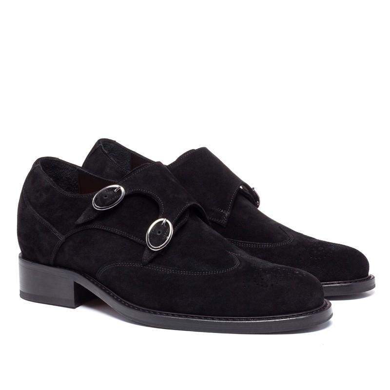 Guido Maggi Post Street Suede Calfskin Shoes Dark Brown Image