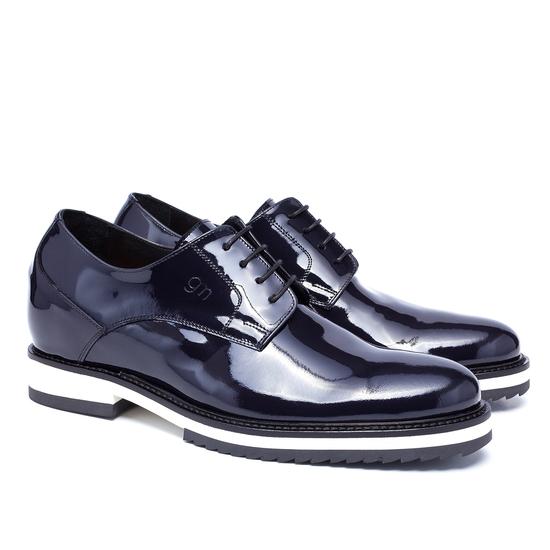 Guido Maggi Rue de Rivoli Patent Leather Shoes Dark Blue Image