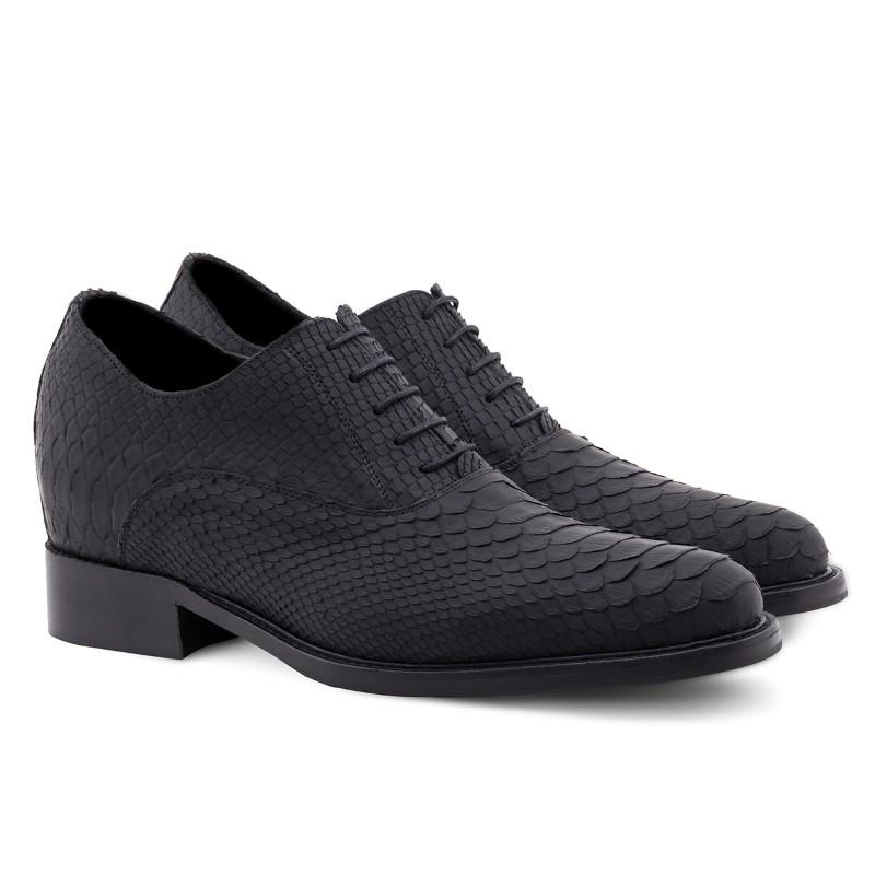 Guido Maggi South Africa Python Matt Leather Shoes Black Image