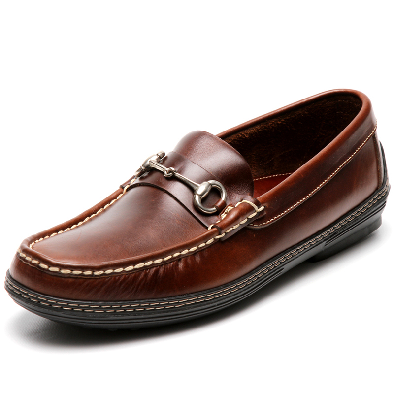 Handsewn Shoe Co. Bit Driver Dark Brown Image