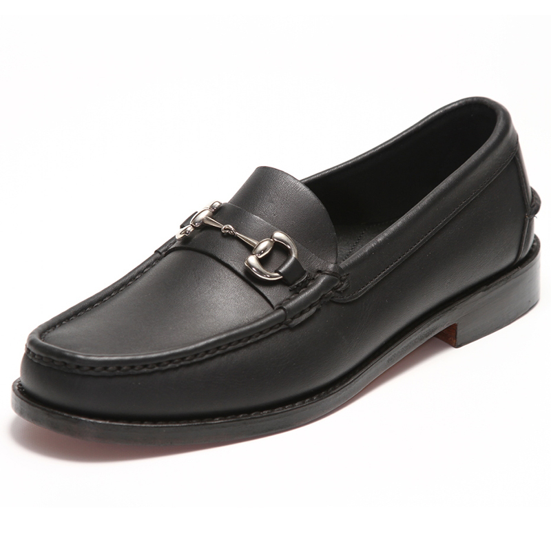 Handsewn Shoe Co. Bit Loafer Black Image