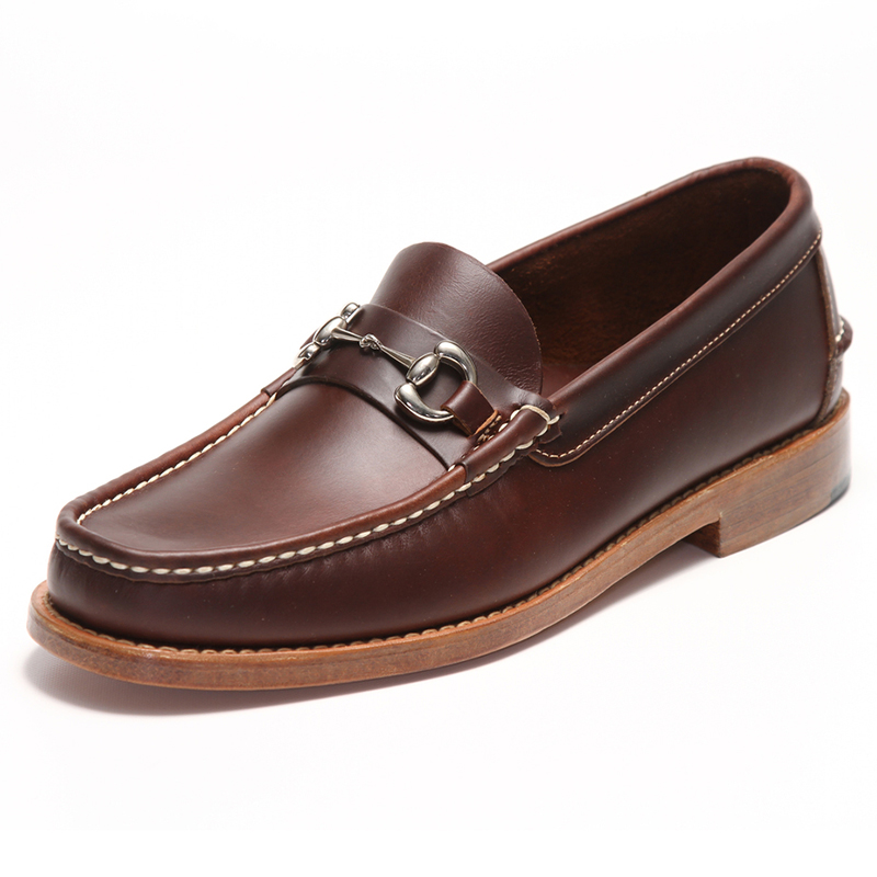 Handsewn Shoe Co. Bit Loafer Dark Brown Image