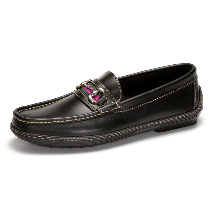 Handsewn Shoe Co. Bit Stripe Driver Black Image